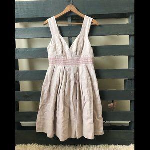 Sundance linen light pink fit and flare dress 6